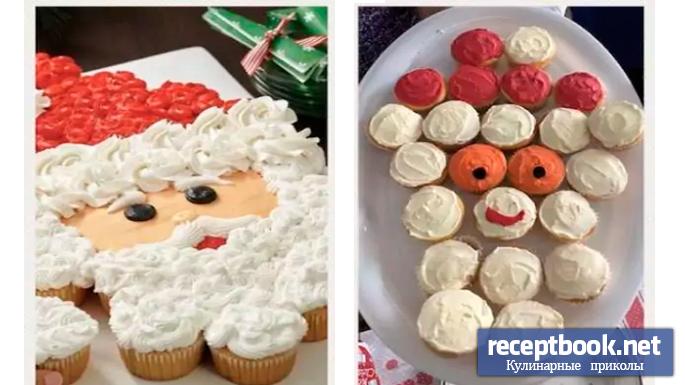 Дед мороз из пирожинок